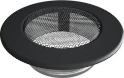 Решетка для камина Kratki круглая FI 100 черная. Фото 2
