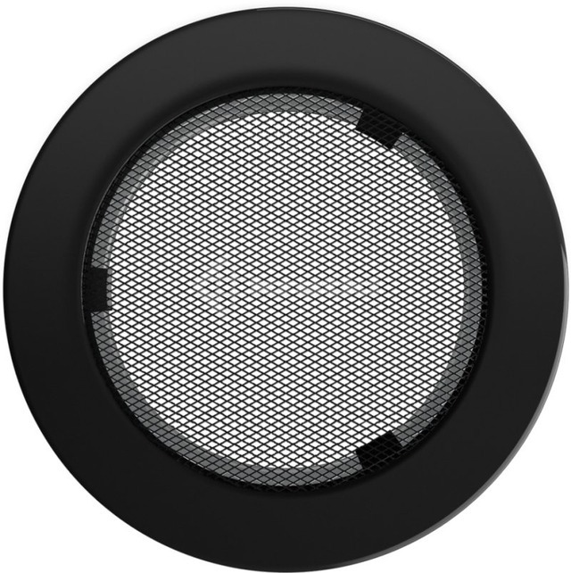 Решетка для камина Kratki круглая FI 150 черная