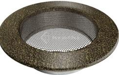 Решетка для камина Kratki круглая FI 125 черно-золотая. Фото 2