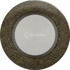 Решетка для камина Kratki круглая FI 125 черно-золотая