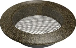 Решетка для камина Kratki круглая FI 150 черно-золотая. Фото 2