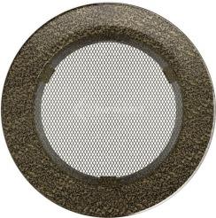 Решетка для камина Kratki круглая FI 150 черно-золотая