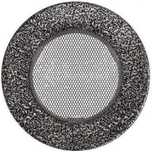 Решетка для камина Kratki круглая FI 100 черно-серебряная