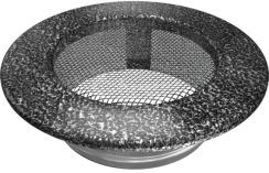Решетка для камина Kratki круглая FI 100 черно-серебряная. Фото 2