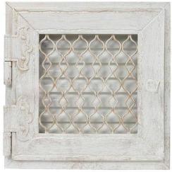 Решетка для камина Kratki Retro одинарная 22х22 белая, выдвижная