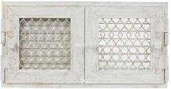 Решетка для камина Kratki Retro двойная 22 белая, открывающаяся