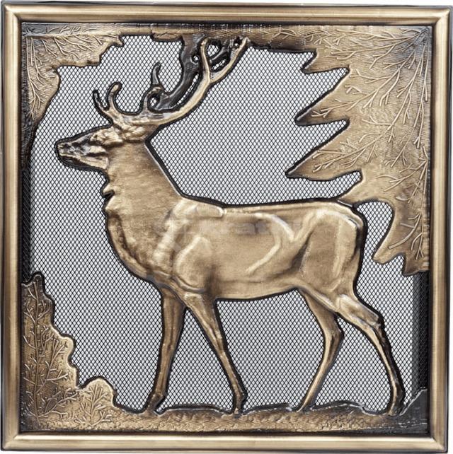 Решетка для камина Kratki Олень