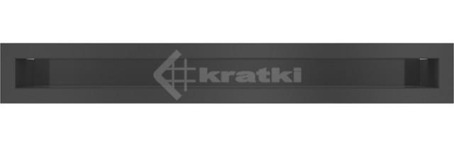 Решетка для камина Kratki Mila Tunel 14x113,2 графитовая