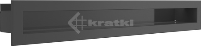 Решетка для камина Kratki Mila Tunel 14x113,2 графитовая. Фото 2
