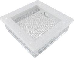 Решетка для камина Kratki Venus 17х17 белая с кристаллами Swarovski. Фото 2