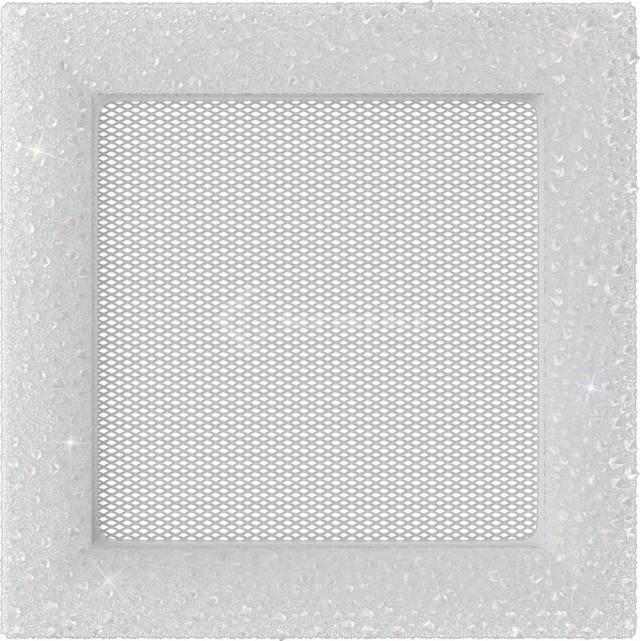 Решетка для камина Kratki Venus 17х17 белая с кристаллами Swarovski
