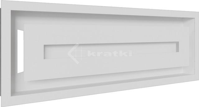 Решітка для каміну Kratki Wind 17х49 біла