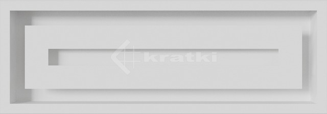 Решітка для каміну Kratki Wind 17х49 біла. Фото 3