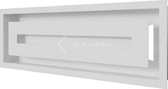 Решітка для каміну Kratki Wind 17х49 біла. Фото 2