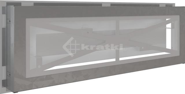 Решітка для каміну Kratki Wind 17х49 біла. Фото 5