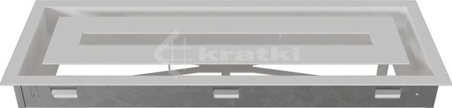 Решітка для каміну Kratki Wind 17х49 біла. Фото 4