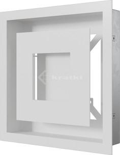 Решетка для камина Kratki Wind 22х22 белая. Фото 3