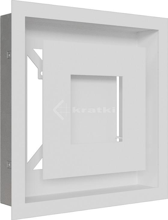 Решетка для камина Kratki Wind 22х22 белая