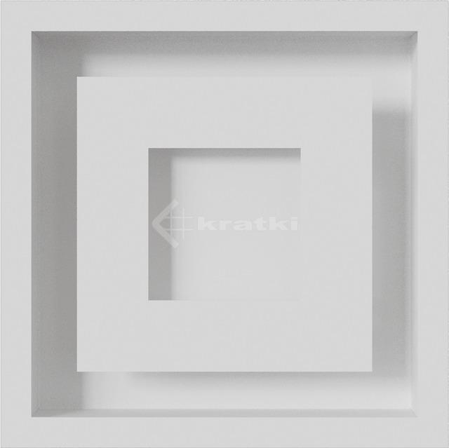 Решетка для камина Kratki Wind 22х22 белая. Фото 2