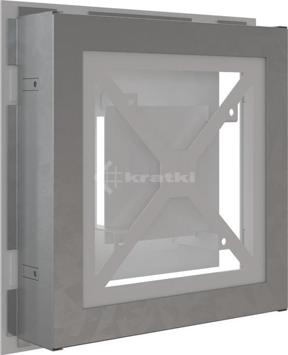 Решетка для камина Kratki Wind 22х22 белая. Фото 4