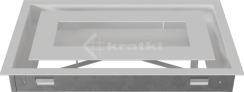 Решетка для камина Kratki Wind 22х37 белая. Фото 5