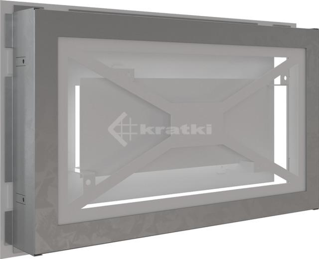 Решетка для камина Kratki Wind 22х37 белая. Фото 4