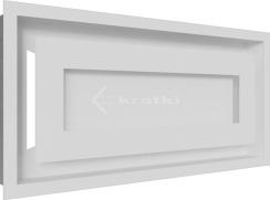 Решетка для камина Kratki Wind 22х45 белая