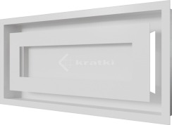 Решетка для камина Kratki Wind 22х45 белая. Фото 3