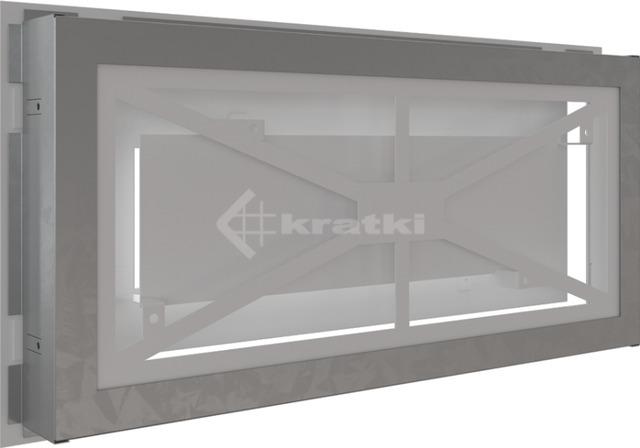 Решетка для камина Kratki Wind 22х45 белая. Фото 4