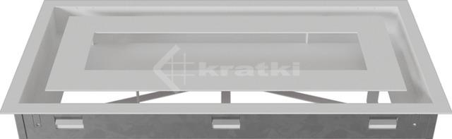 Решетка для камина Kratki Wind 22х45 белая. Фото 5
