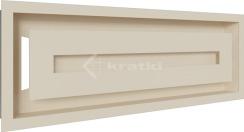Решетка для камина Kratki Wind 17х49 кремовая