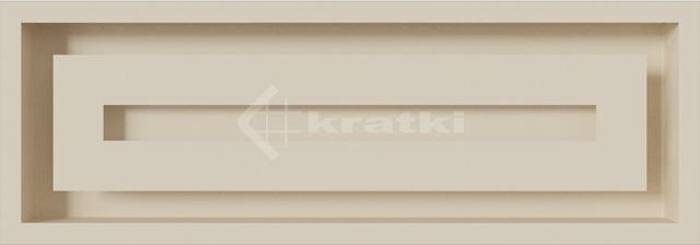 Решетка для камина Kratki Wind 17х49 кремовая. Фото 3