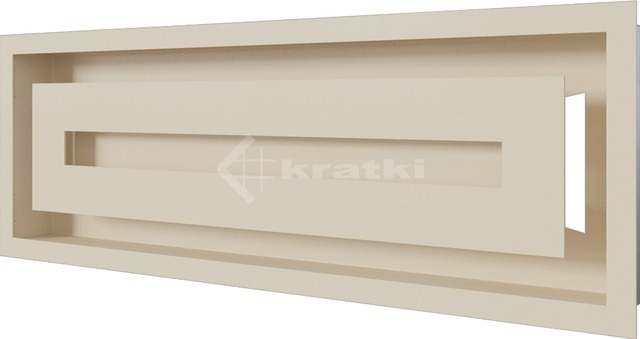 Решетка для камина Kratki Wind 17х49 кремовая. Фото 2