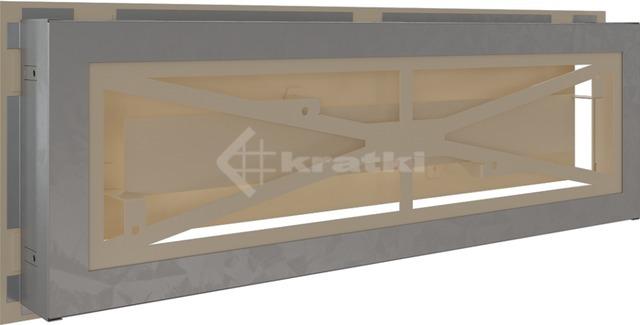 Решетка для камина Kratki Wind 17х49 кремовая. Фото 4