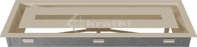 Решетка для камина Kratki Wind 17х49 кремовая. Фото 5