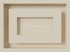 Решетка для камина Kratki Wind 22х30 кремовая. Фото 2