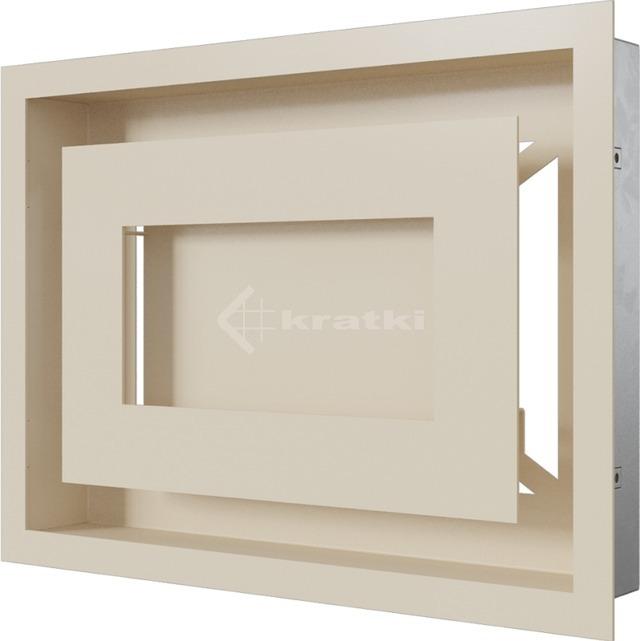 Решетка для камина Kratki Wind 22х30 кремовая. Фото 3