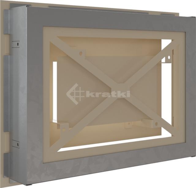 Решетка для камина Kratki Wind 22х30 кремовая. Фото 4
