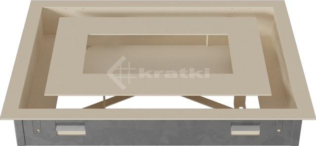 Решетка для камина Kratki Wind 22х30 кремовая. Фото 5