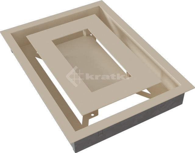 Решетка для камина Kratki Wind 22х30 кремовая. Фото 6