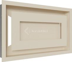 Решетка для камина Kratki Wind 22х37 кремовая
