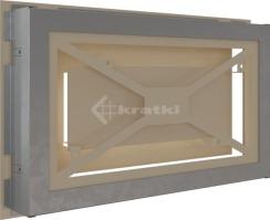 Решетка для камина Kratki Wind 22х37 кремовая. Фото 4