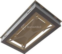 Решетка для камина Kratki Wind 22х37 кремовая. Фото 8