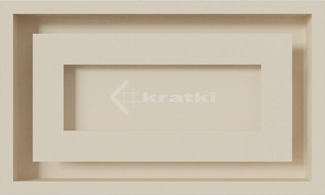 Решетка для камина Kratki Wind 22х37 кремовая. Фото 2