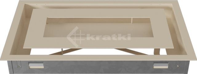 Решетка для камина Kratki Wind 22х37 кремовая. Фото 5