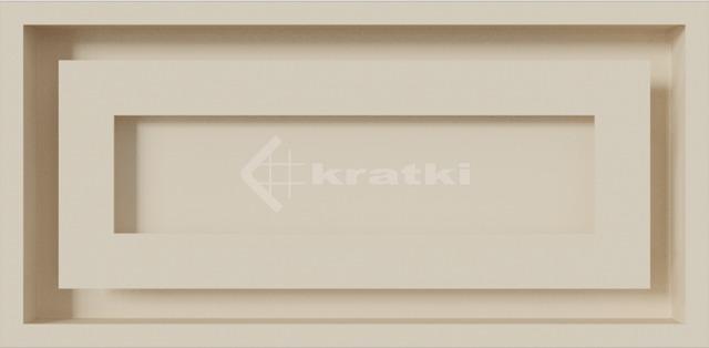 Решетка для камина Kratki Wind 22х45 кремовая. Фото 2