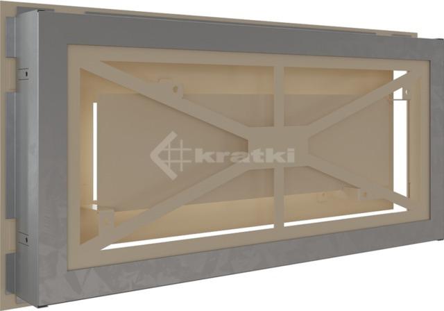 Решетка для камина Kratki Wind 22х45 кремовая. Фото 4