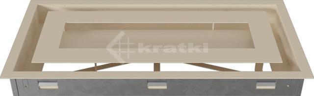 Решетка для камина Kratki Wind 22х45 кремовая. Фото 5