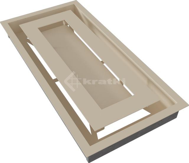 Решетка для камина Kratki Wind 22х45 кремовая. Фото 6