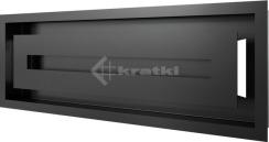 Решетка для камина Kratki Wind 17х49 черная. Фото 3